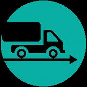Icon Transporter (türkis): Liefertreue